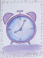 this is a drawing of an alarm clock