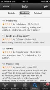 complaints for the app