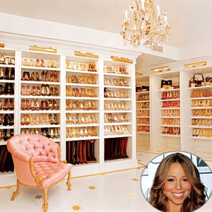 this is a photo of a massive shoe collection