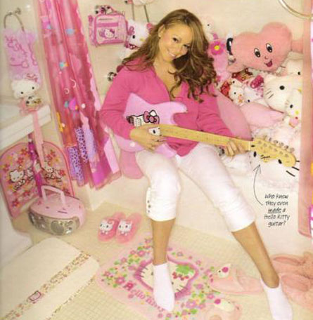 this is a photo of mariah carey's hello kitty room