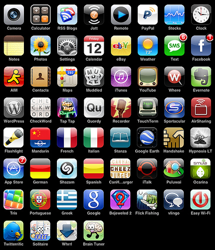 this is a photo of a bunch of iphone icons