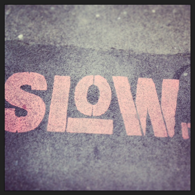this is text saying slow