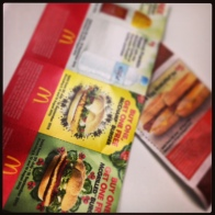 this is a photo of mcdonalds vouchers